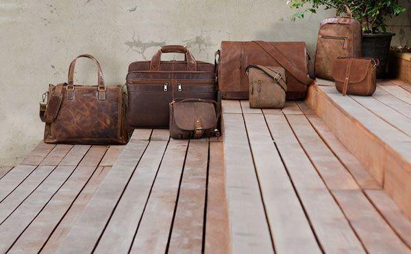 Vintage Leder Umhänge Handtasche
