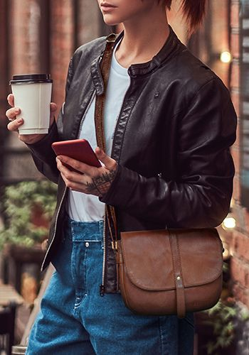 Damen Handtaschen Vintage Leder Rindsleder