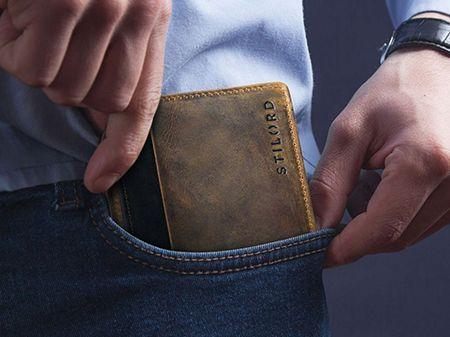 Herren Geldbörse Vintage Leder