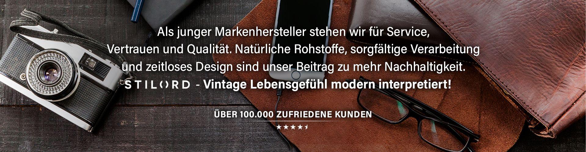 STILORD Leder Herrentaschen Vintage