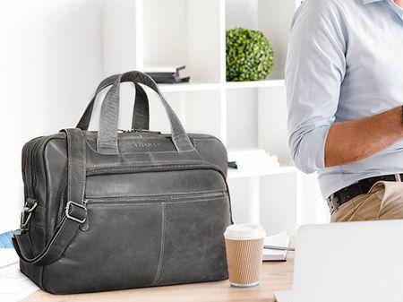 Schwarze Aktentasche Bürotasche
