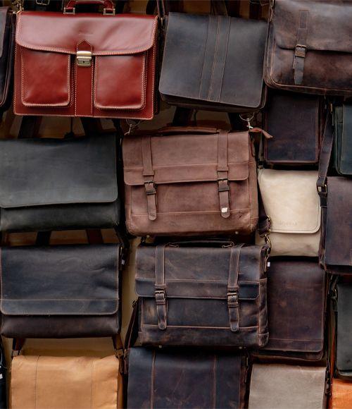 Vintage Rindsleder Taschen