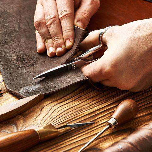Vintage Leder Herstellungsprozess