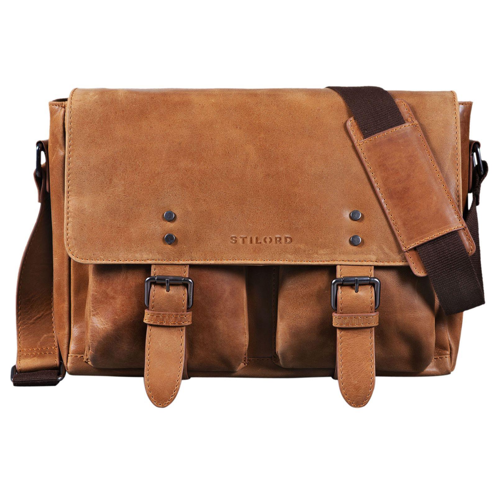 Vintage Ledertasche Messenger Bag 13 Zoll