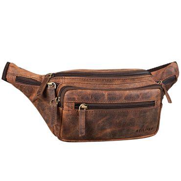Gürteltasche Bauchtasche Hüfttasche Crossbag Umhängetasche Echt Leder schwarz