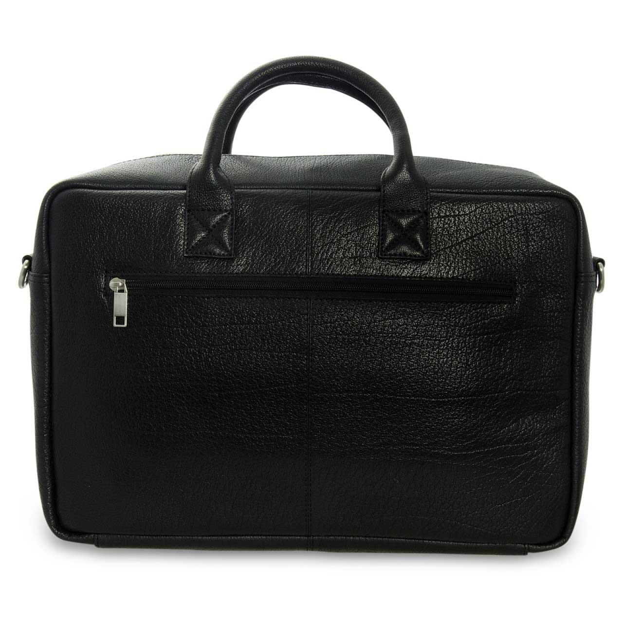 STILORD Umhängetasche Messenger Bag für Akten Ordner Groß 17.3 Zoll Laptop Tablet Tasche aus Leder schwarz  - Bild 4