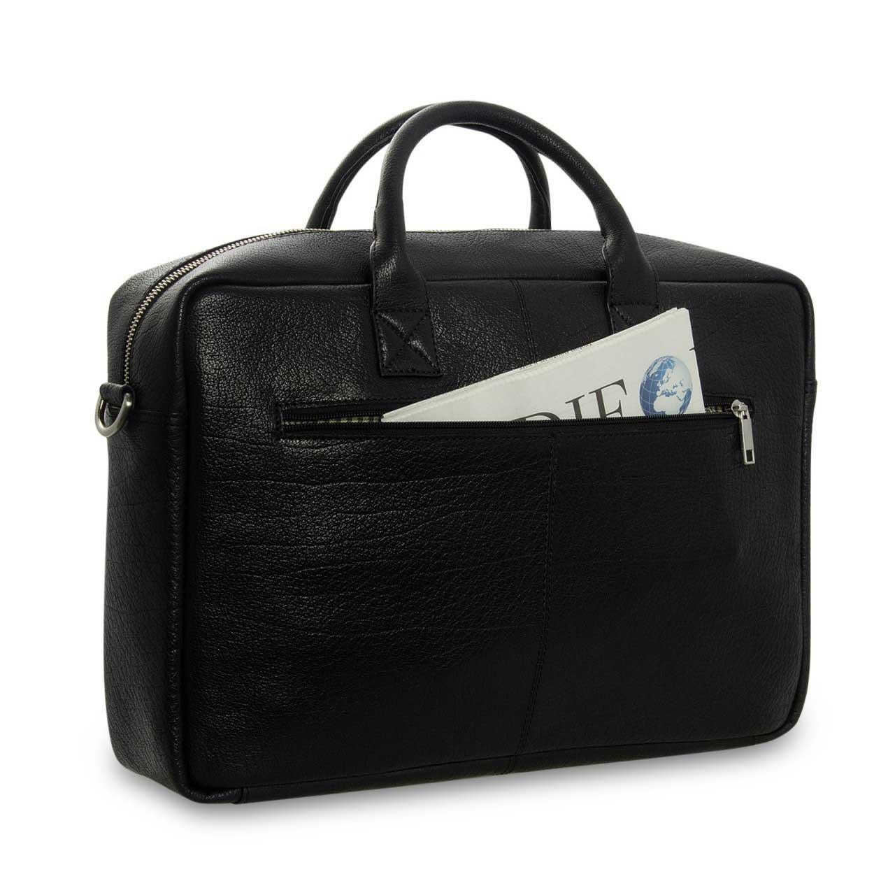 STILORD Umhängetasche Messenger Bag für Akten Ordner Groß 17.3 Zoll Laptop Tablet Tasche aus Leder schwarz  - Bild 8