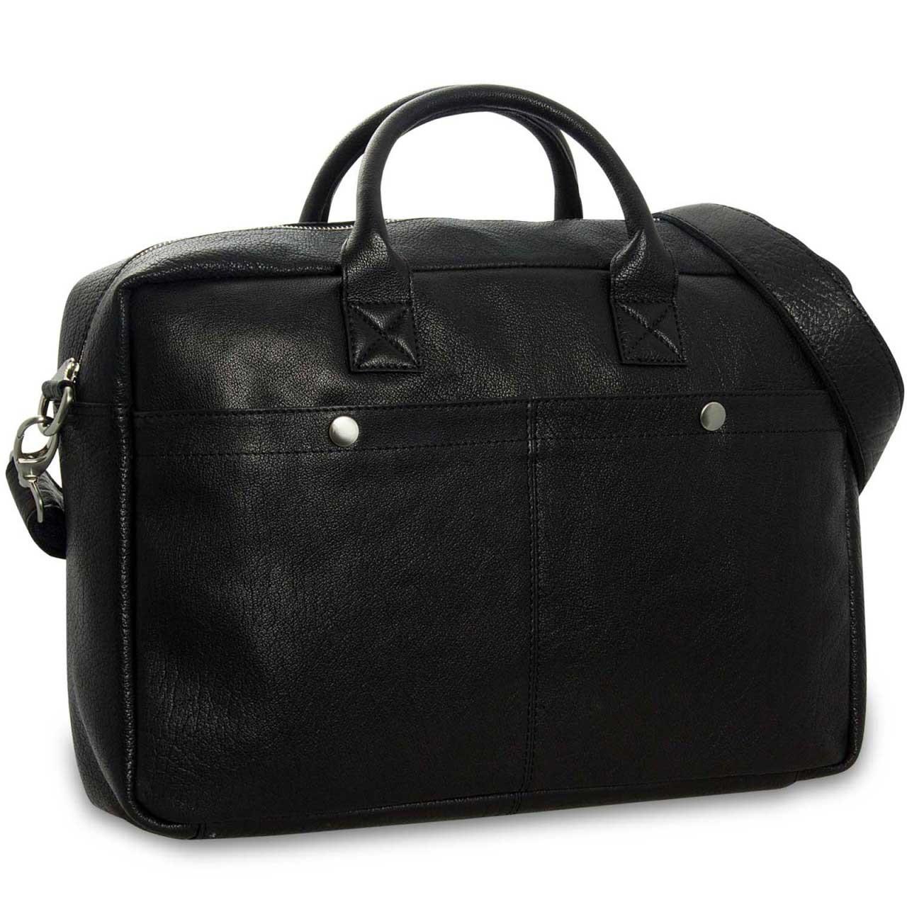 STILORD Umhängetasche Messenger Bag für Akten Ordner Groß 17.3 Zoll Laptop Tablet Tasche aus Leder schwarz  - Bild 2