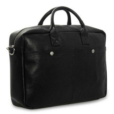 STILORD Umhängetasche Messenger Bag für Akten Ordner Groß 17.3 Zoll Laptop Tablet Tasche aus Leder schwarz