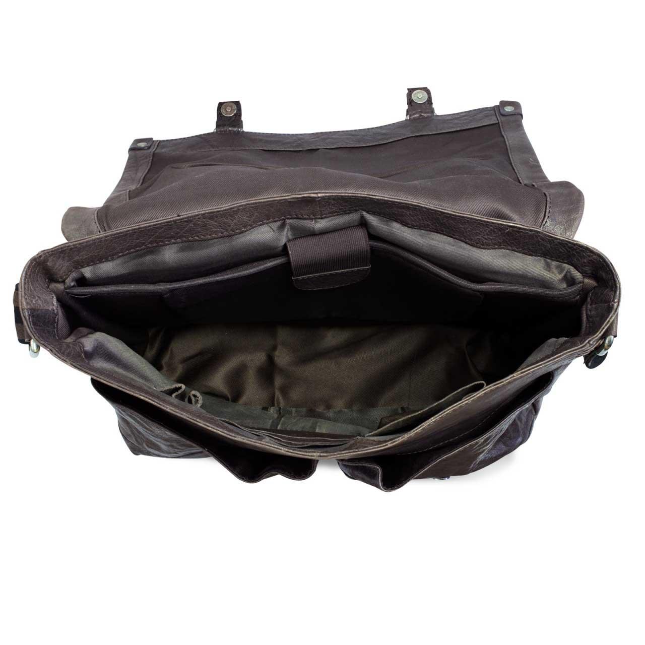 Geschenk Tasche Leder