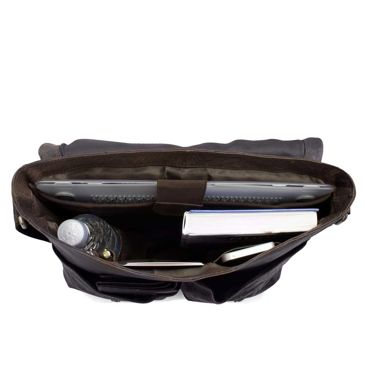 Tasche Leder dunkel