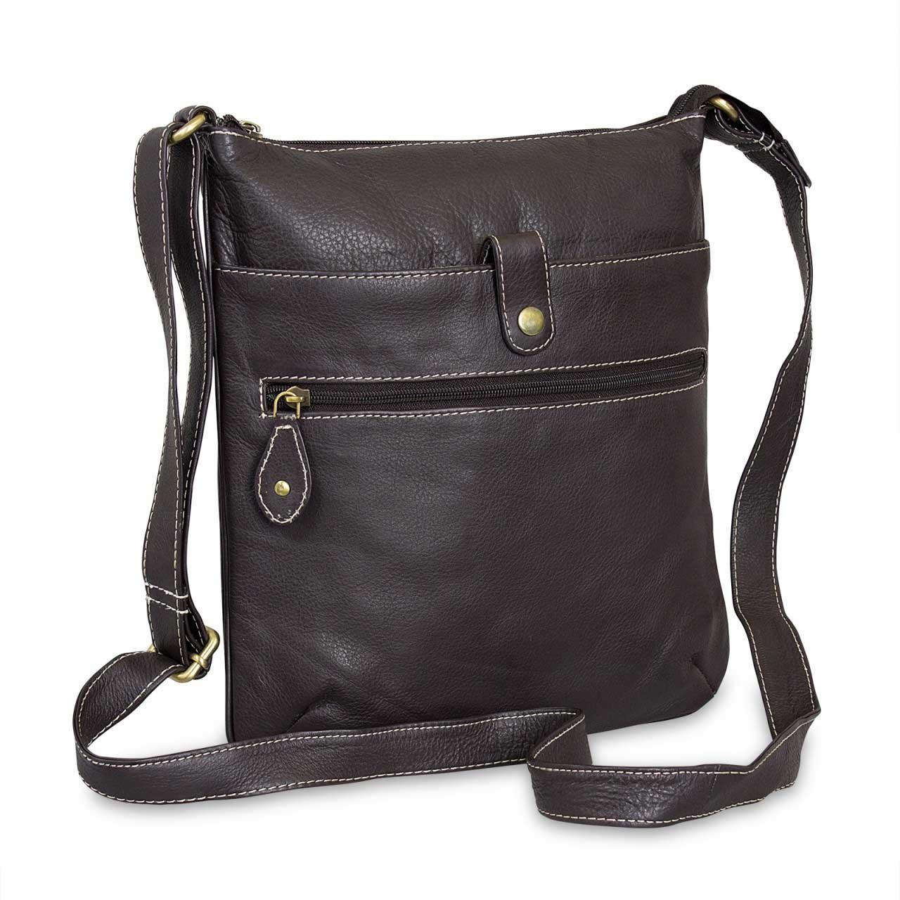 412fb3c8eb004 Braune Umhängetasche für Damen Handtasche Abendtasche Leder