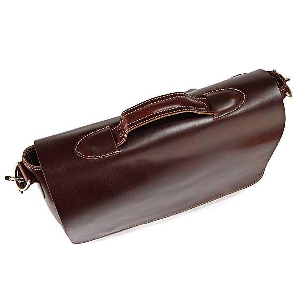 STILORD Vintage Schultertasche Umhängetasche Herren Laptoptasche MacBook 13,3 Zoll  Business Büro Echt-Leder Dunkel-Braun - Bild 5