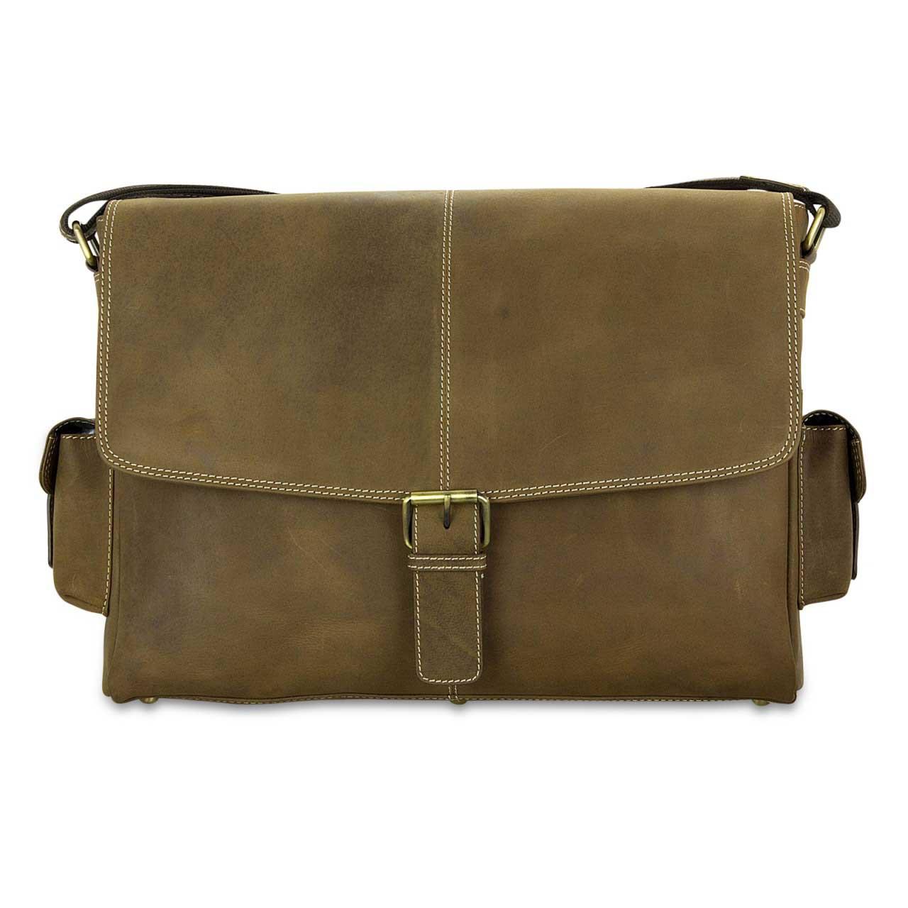 STILORD Ledertasche Umhängetasche 15.6 Zoll Laptoptasche aus echtem Büffel-Leder braun  - Bild 3