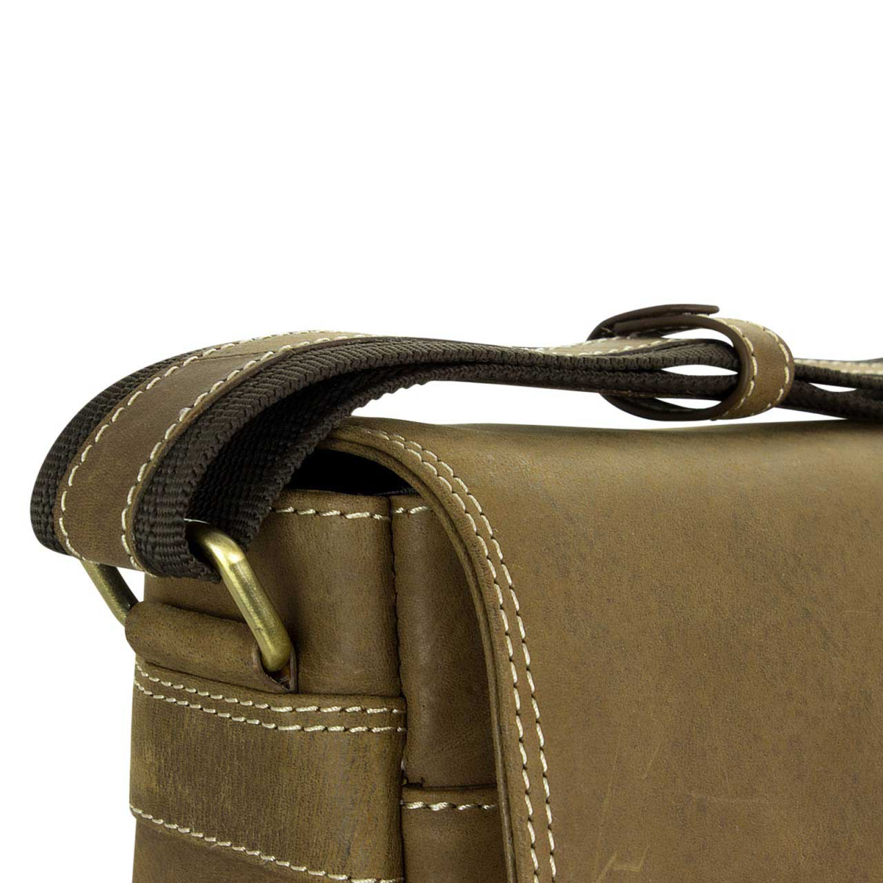 STILORD Ledertasche Umhängetasche 15.6 Zoll Laptoptasche aus echtem Büffel-Leder braun  - Bild 6