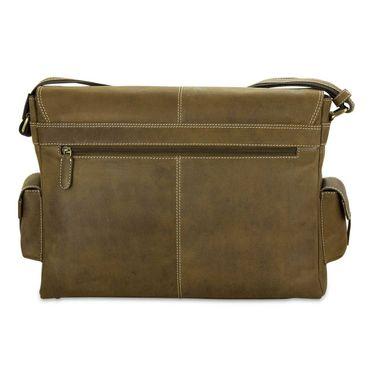 STILORD Ledertasche Umhängetasche 15.6 Zoll Laptoptasche aus echtem Büffel-Leder braun  – Bild 7
