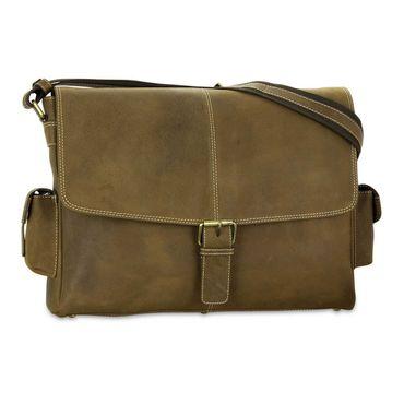 STILORD Ledertasche Umhängetasche 15.6 Zoll Laptoptasche aus echtem Büffel-Leder braun  – Bild 2