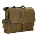STILORD Ledertasche Umhängetasche 15.6 Zoll Laptoptasche aus echtem Büffel-Leder braun