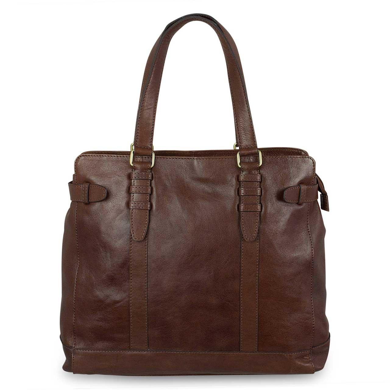 STILORD Große Damenhandtasche Leder 34 x 35 x 9 cm dunkelbraun - Bild 6