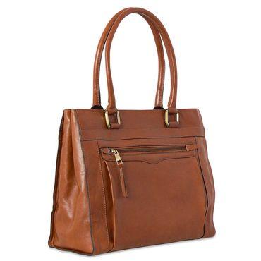 Handtasche Damen Freizeittasche Abendtasche Leder Cognac Braun