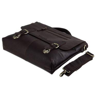 STILORD elegante Aktentasche / Business Tasche / Handtasche Schultertasche Bürotasche Arbeitstasche Vintage Echtleder Braun – Bild 7