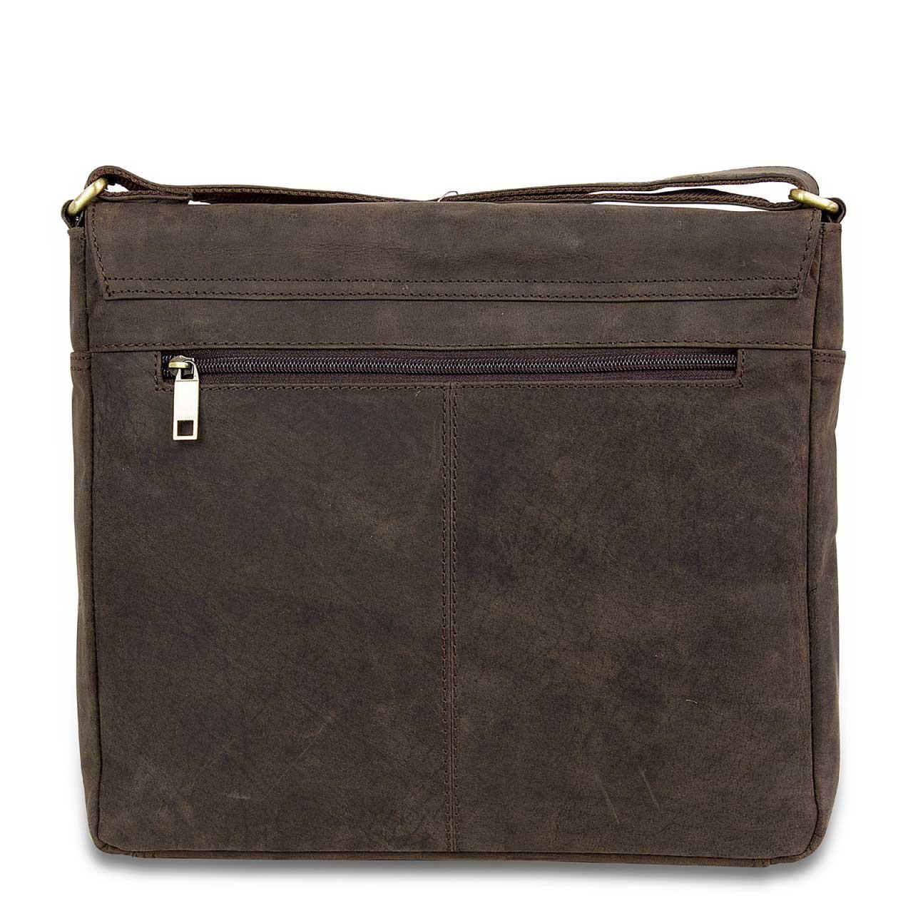 STILORD Leder Messenger Bag kompakt Vintage Schulter Umhängetasche 12.2 Zoll Tablets MacBook Tasche echtes Leder dunkelbraun - Bild 8