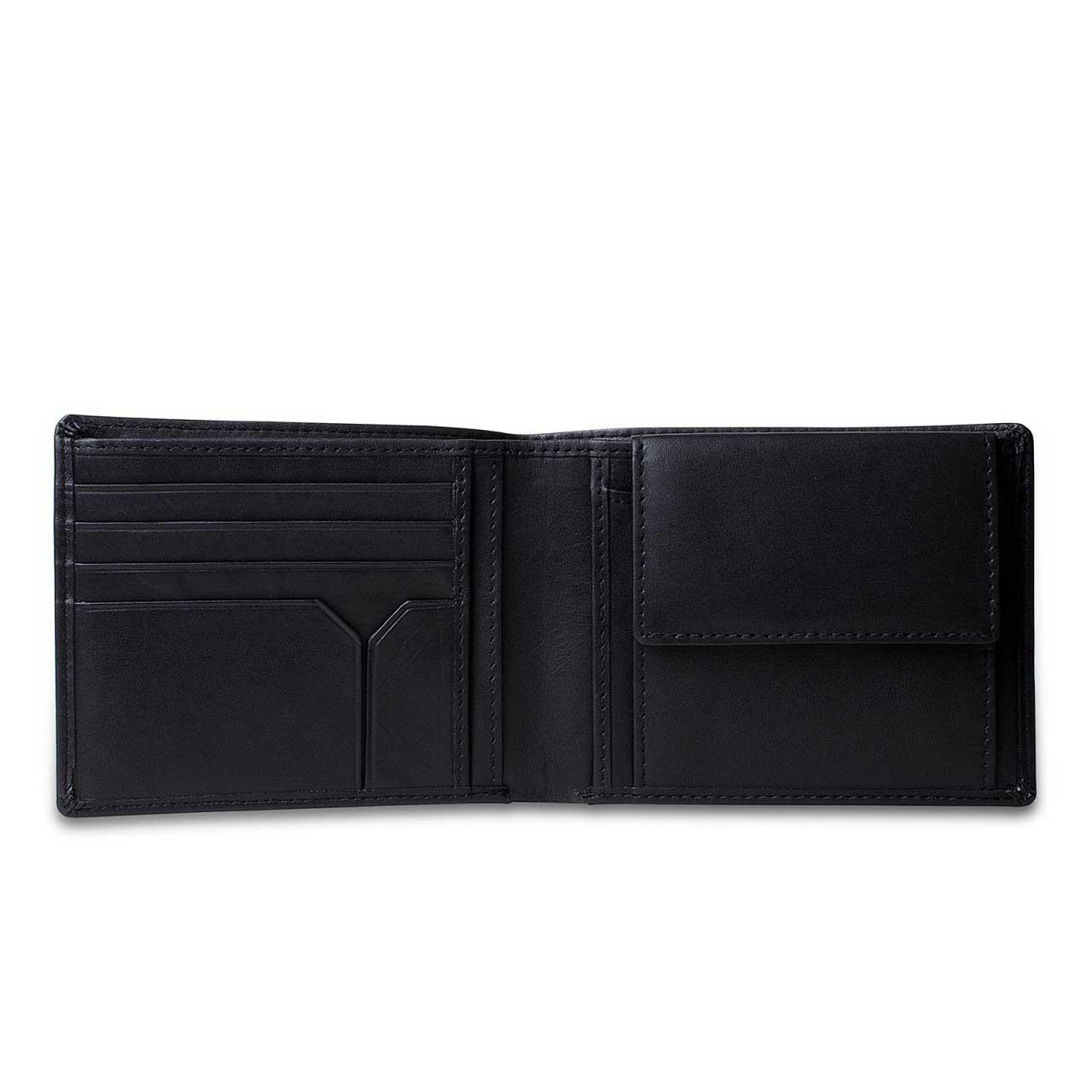 STILORD Portemonnaie aus Leder Geldbörse Brieftasche Ledergeldbörse Portmonee Geldbeutel Etui EC-Karten Leder schwarz - Bild 7