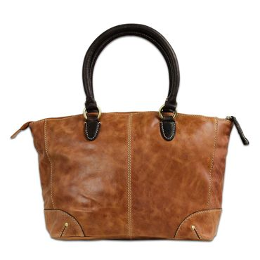 STILORD Vintage Handtasche Damen Abendtasche Henkeltasche Ausgehtasche Retro-Design aus echtem Büffel Leder braun – Bild 3
