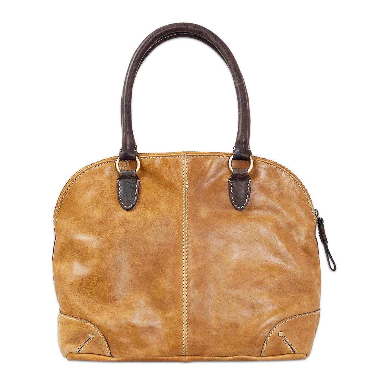 STILORD Vintage Handtasche groß Henkeltasche elegante Abendtasche für Damen - echtes Büffel Leder braun - Bild 4