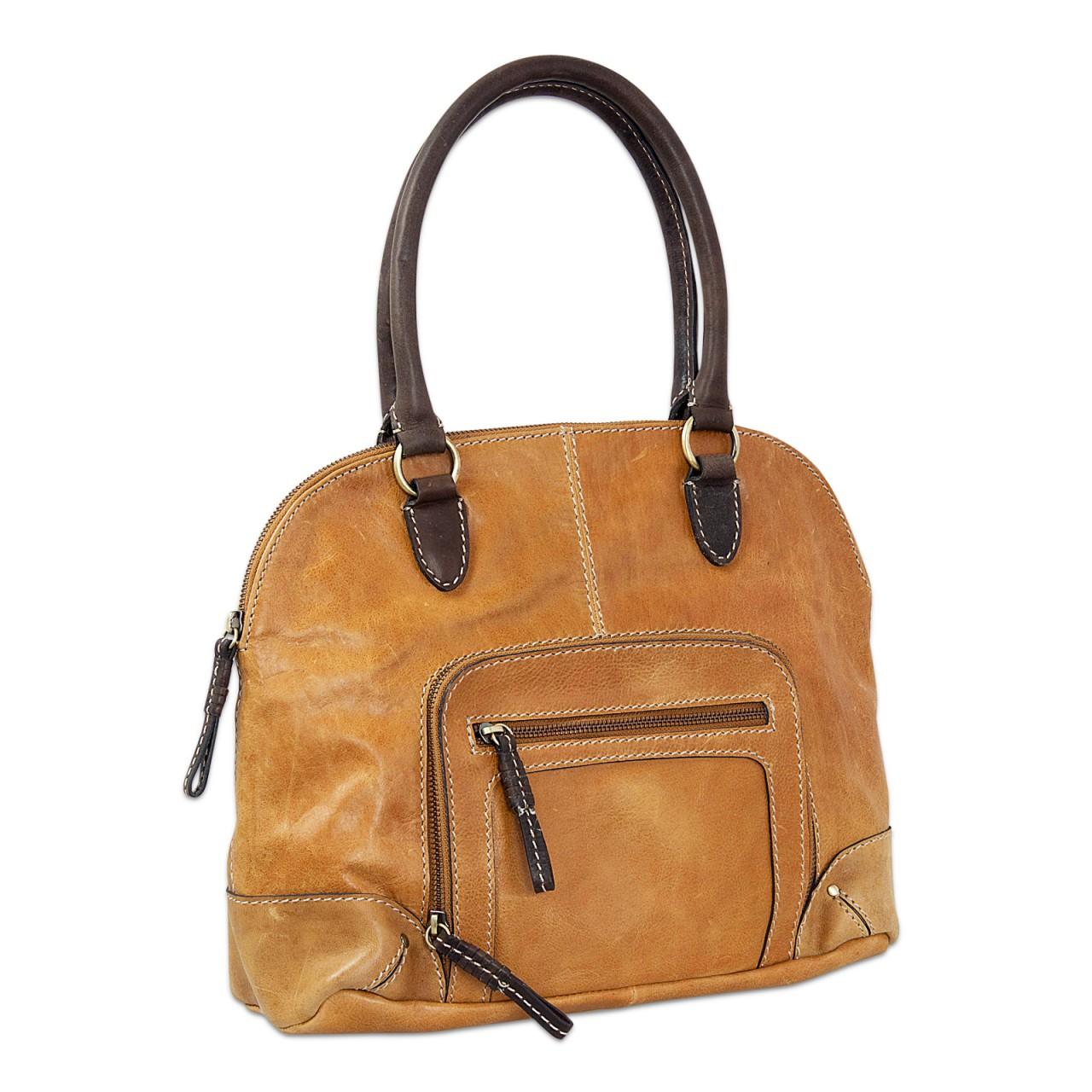 STILORD Vintage Handtasche groß Henkeltasche elegante Abendtasche für Damen - echtes Büffel Leder braun - Bild 1