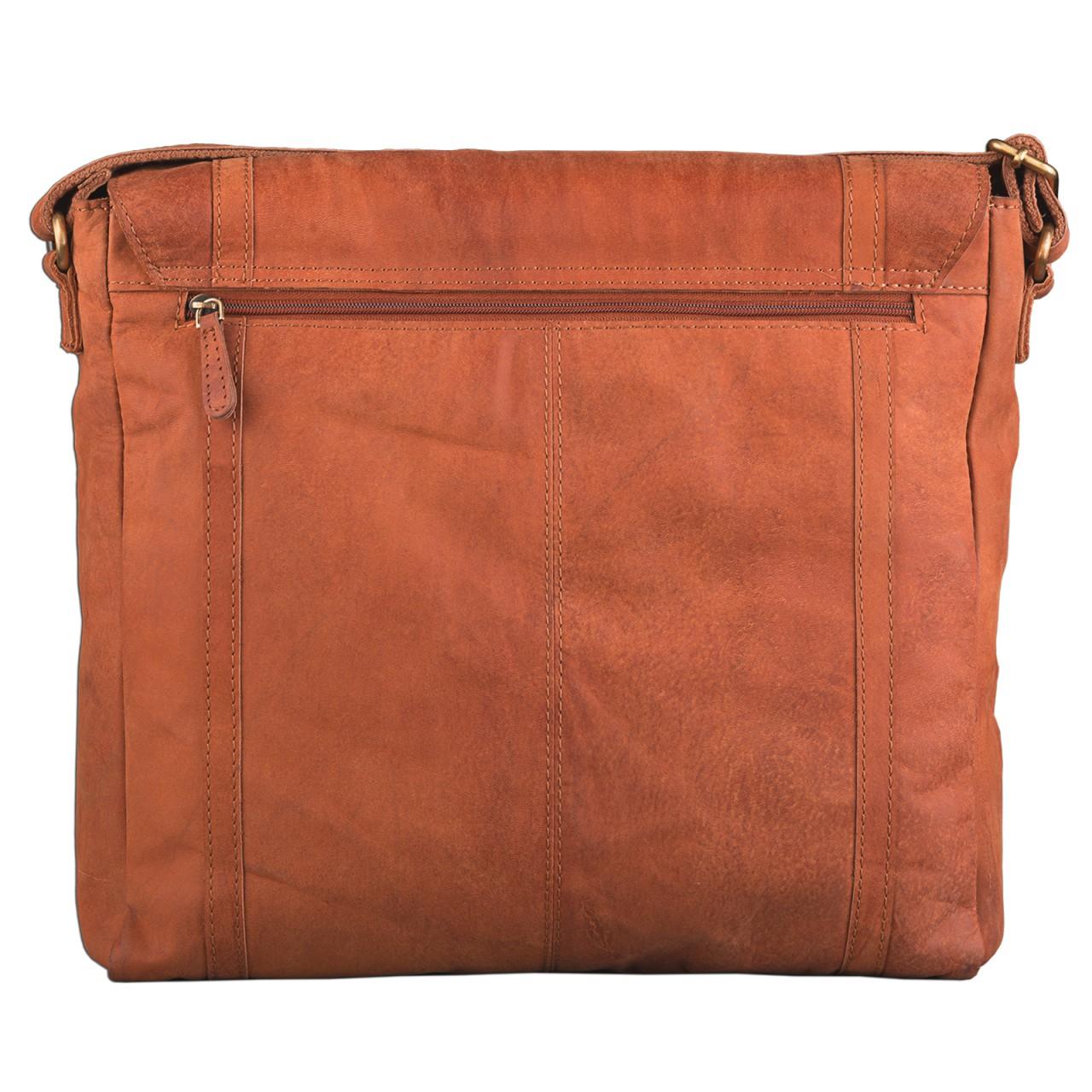 STILORD Schultertasche Ledertasche Umhängetasche Messenger Bag MacBook Laptop 14 Zoll A4 Akten Uni Freizeit Arbeit Leder orange braun - Bild 8