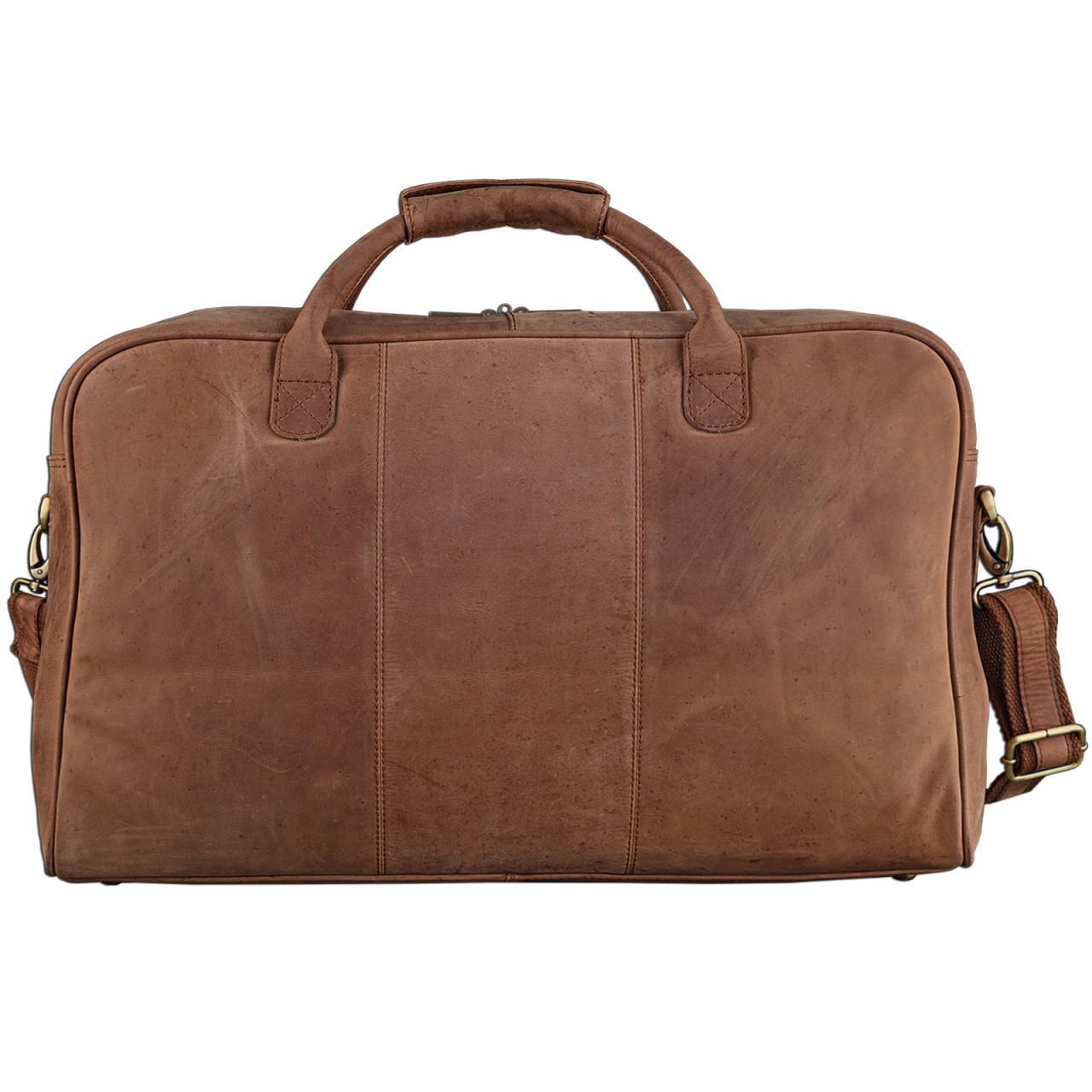 STILORD Vintage Reisetasche XXL groß Leder Weekend Bag Urlaub Retro Sporttasche Ledertasche mit 10.1 Zoll Tabletfach aus echtem Büffel-Leder braun - Bild 5
