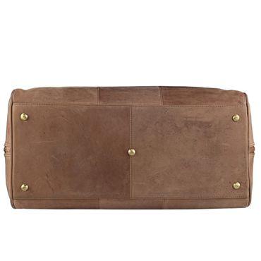 STILORD Vintage Reisetasche XXL groß Leder Weekend Bag Urlaub Retro Sporttasche Ledertasche mit 10.1 Zoll Tabletfach aus echtem Büffel-Leder braun – Bild 6