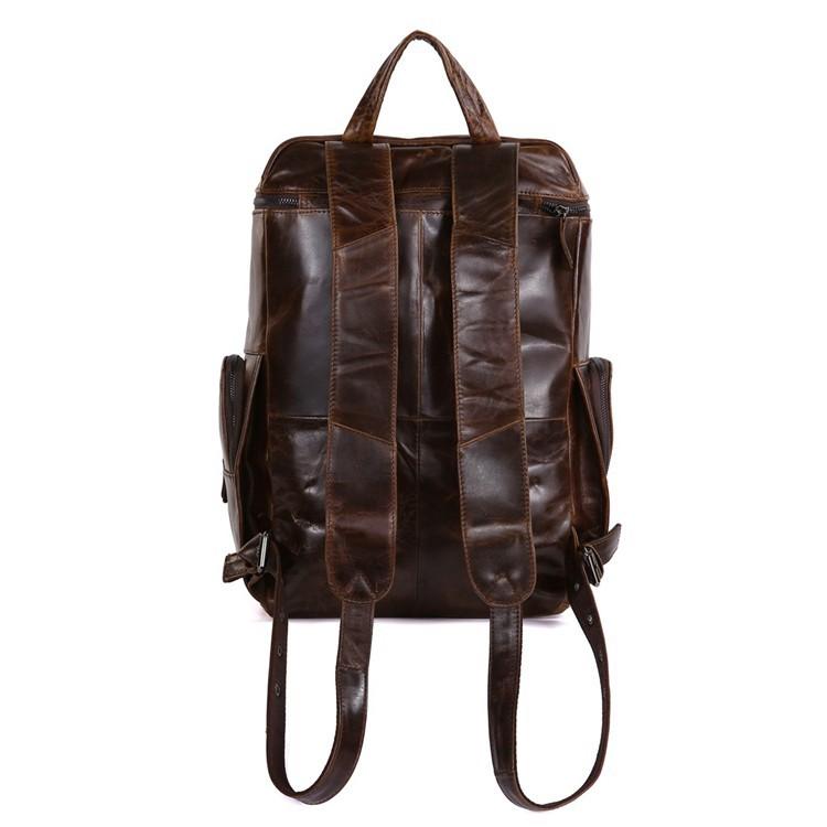 STILORD Lederrucksack für Tablets und Laptops 13,3 Zoll Daypack Freizeit Mann Frau Vintage Rucksack Leder Braun - Bild 2