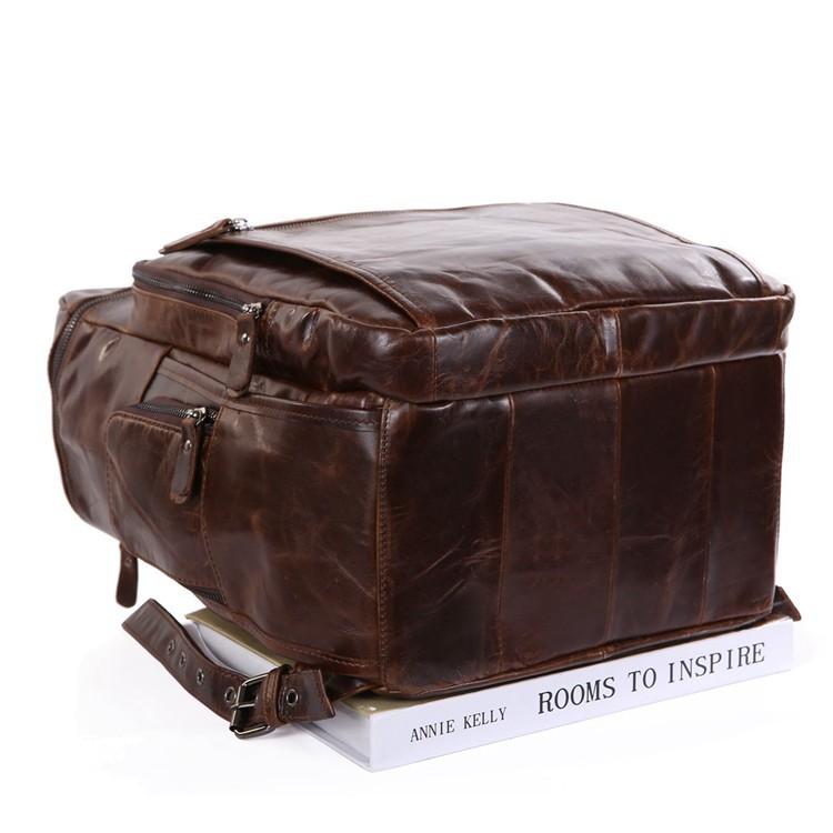 STILORD Lederrucksack für Tablets und Laptops 13,3 Zoll Daypack Freizeit Mann Frau Vintage Rucksack Leder Braun - Bild 3