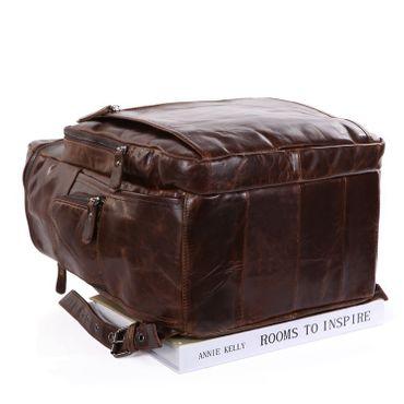 STILORD Lederrucksack für Tablets und Laptops 13,3 Zoll Daypack Freizeit Mann Frau Vintage Rucksack Leder Braun – Bild 3
