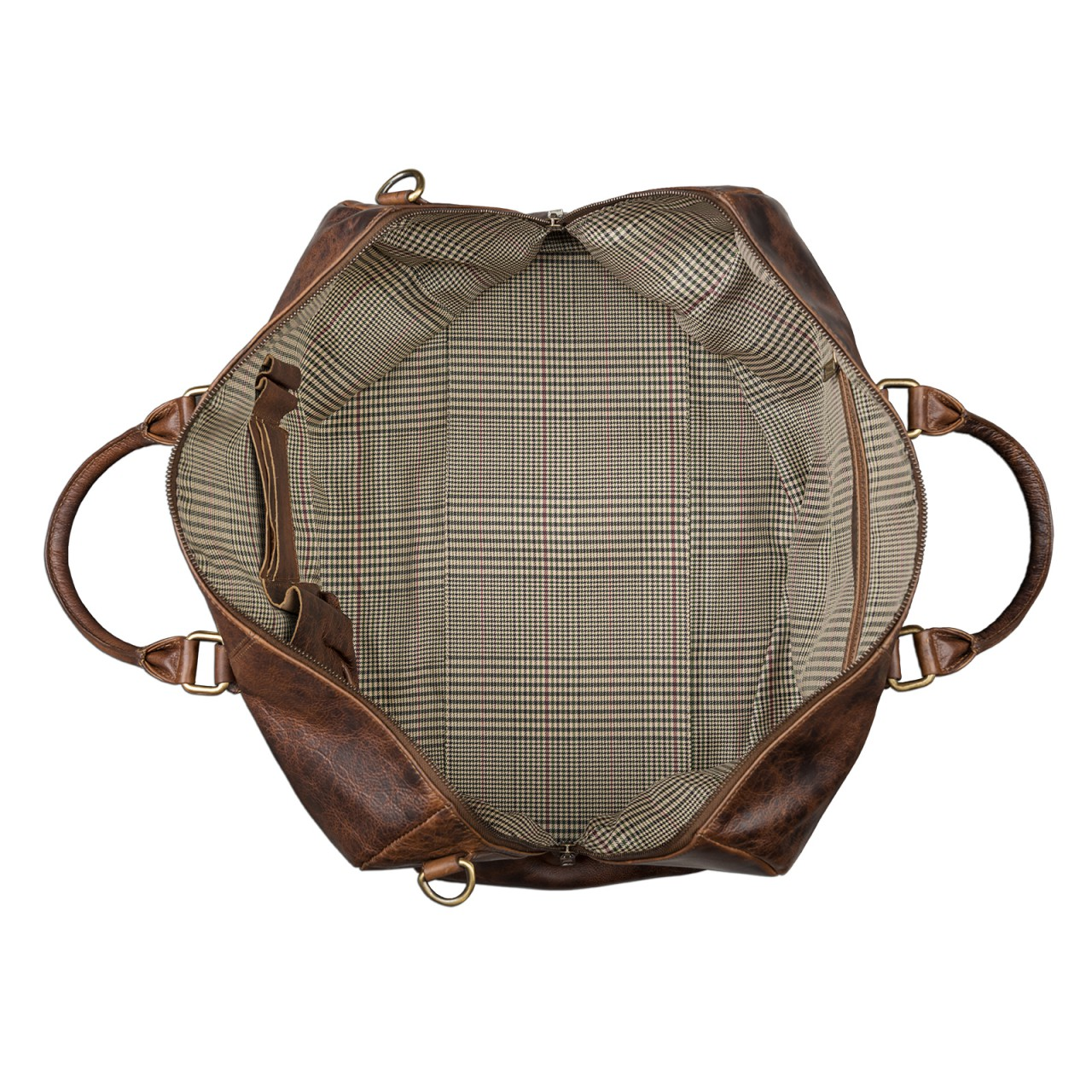 STILORD Leder Vintage Reisetasche Weekend Bag Urlaub Ledertasche Handgepäck Sporttasche Retro Weekender echtes Leder dunkelbraun - Bild 4