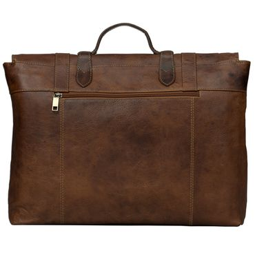 STILORD Vintage Aktentasche Herren Damen Business Tasche Retro Bürotasche Retro Arbeitstasche echtes Rinds Leder braun – Bild 3