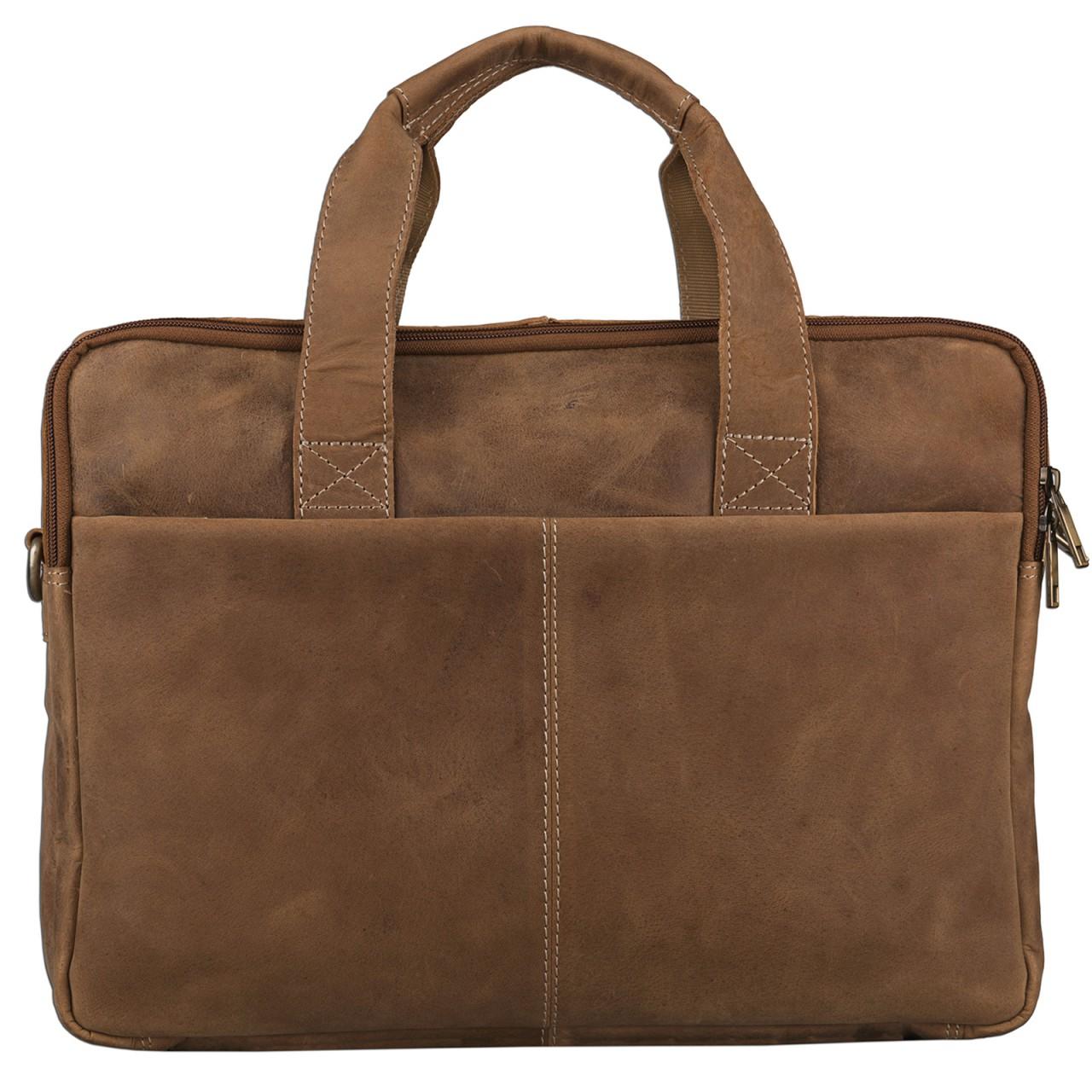 STILORD Vintage Herren Umhängetasche Leder groß Ledertasche Büro Business Studium Uni Lehrertasche Tabletfach 12 Zoll echtes Rinds Leder Braun - Bild 6