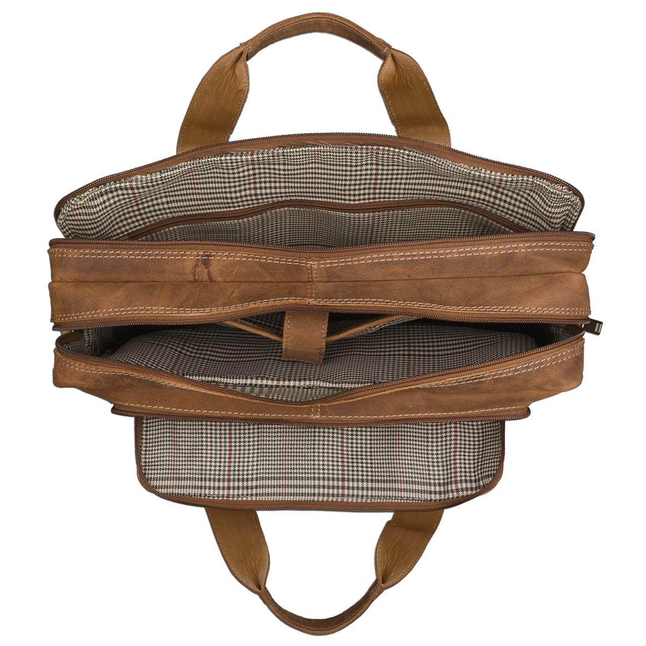 STILORD Vintage Herren Umhängetasche Leder groß Ledertasche Büro Business Studium Uni Lehrertasche Tabletfach 12 Zoll echtes Rinds Leder Braun - Bild 4