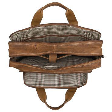 STILORD Vintage Herren Umhängetasche Leder groß Ledertasche Büro Business Studium Uni Lehrertasche Tabletfach 12 Zoll echtes Rinds Leder Braun – Bild 4