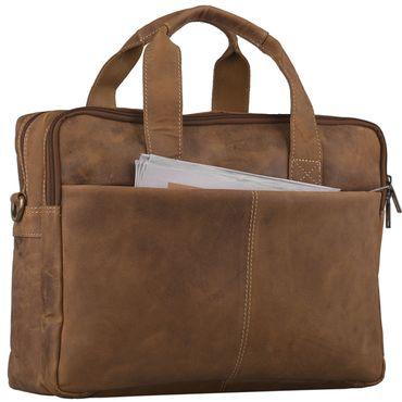 STILORD Vintage Herren Umhängetasche Leder groß Ledertasche Büro Business Studium Uni Lehrertasche Tabletfach 12 Zoll echtes Rinds Leder Braun – Bild 7