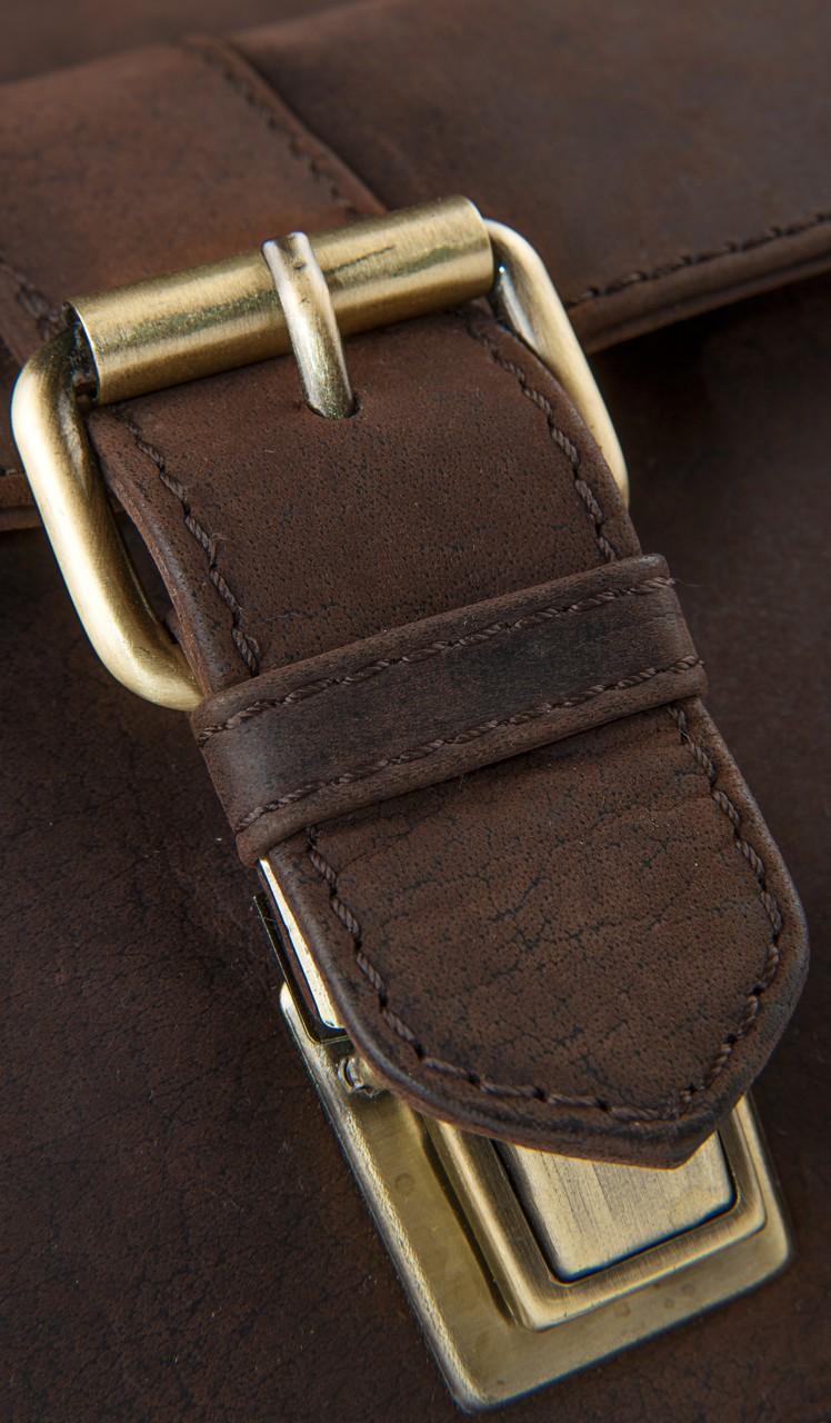 STILORD Klassische Aktentasche Lehrertasche Business Umhängetasche Leder Bürotasche Laptoptasche groß aus Rinds-Leder braun - Bild 9