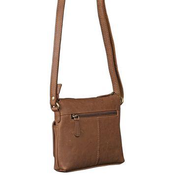 STILORD Vintage Umhängetasche klein Damen braun Schultertasche Handtasche Ausgehen Freizeit Abendtasche Büffel Leder cognac braun – Bild 2