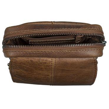 STILORD Gürteltasche klein vertikal Hüfttasche Koppeltasche Universaltasche Handy Arbeit aus echtem Vintage Büffel Leder braun – Bild 5