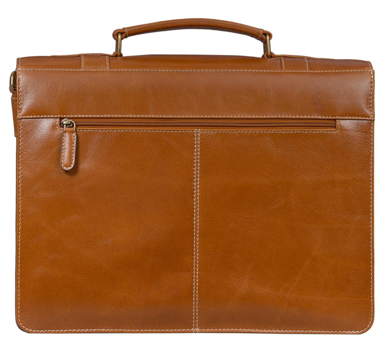 STILORD Aktentasche mit abnehmbaren Schultergurt Business Umhängetasche Lehrertasche im Vintage Design Leder cognac braun - Bild 3