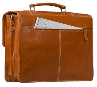 STILORD Aktentasche mit abnehmbaren Schultergurt Business Umhängetasche Lehrertasche im Vintage Design Leder cognac braun – Bild 6