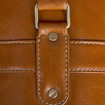 STILORD Aktentasche mit abnehmbaren Schultergurt Business Umhängetasche Lehrertasche im Vintage Design Leder cognac braun – Bild 8