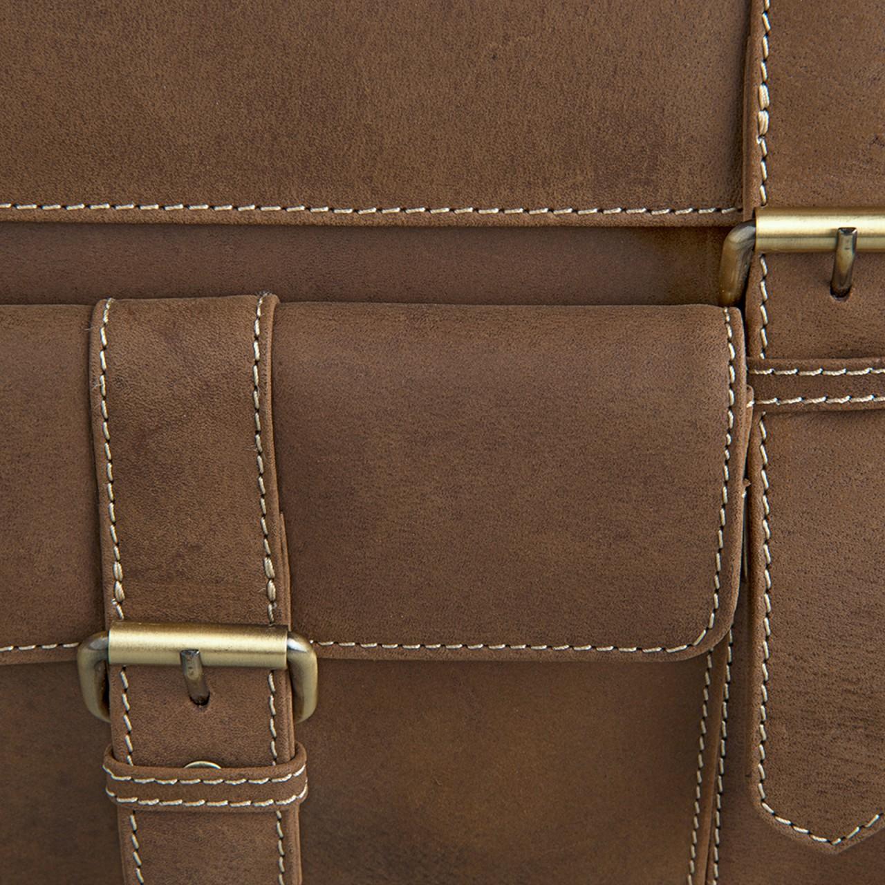 STILORD Elegante Aktentasche Lehrertasche mit Stil, Schulter Hand oder Umhängetasche, Vintage Businesstasche, Leder braun - Bild 6