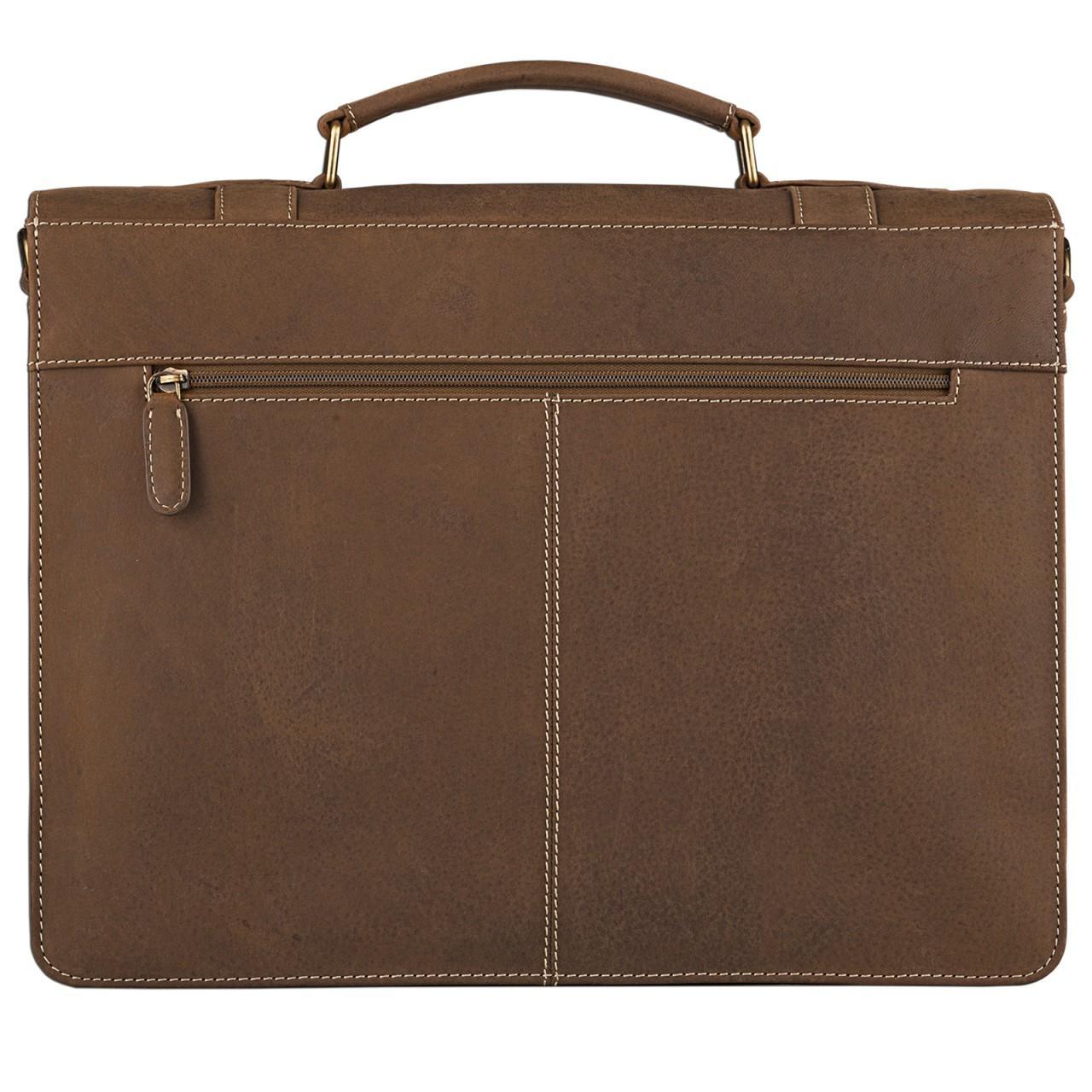 STILORD Elegante Aktentasche Lehrertasche mit Stil, Schulter Hand oder Umhängetasche, Vintage Businesstasche, Leder braun - Bild 4